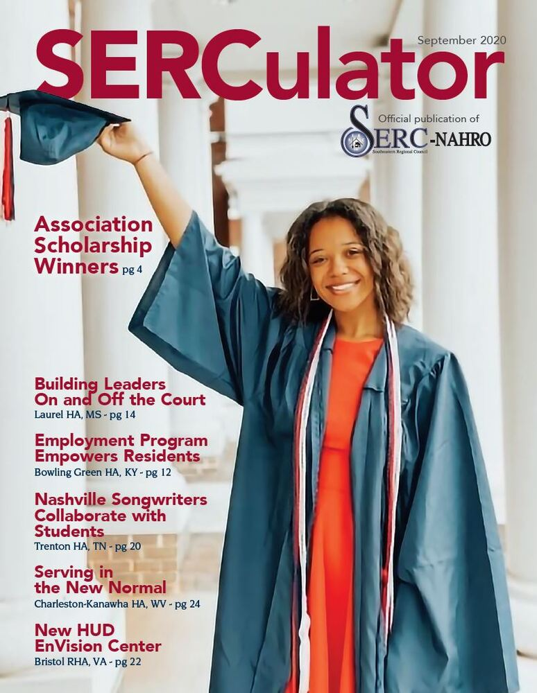 Sept 2020 SERCulator Cover - high school graduate with cap and gown